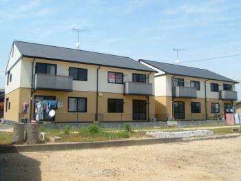 岡山市 アパートオーナー様 屋根・外壁塗装施工事例