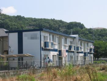 岡山市 アパートオーナー様 屋根・外壁塗装工事施工事例