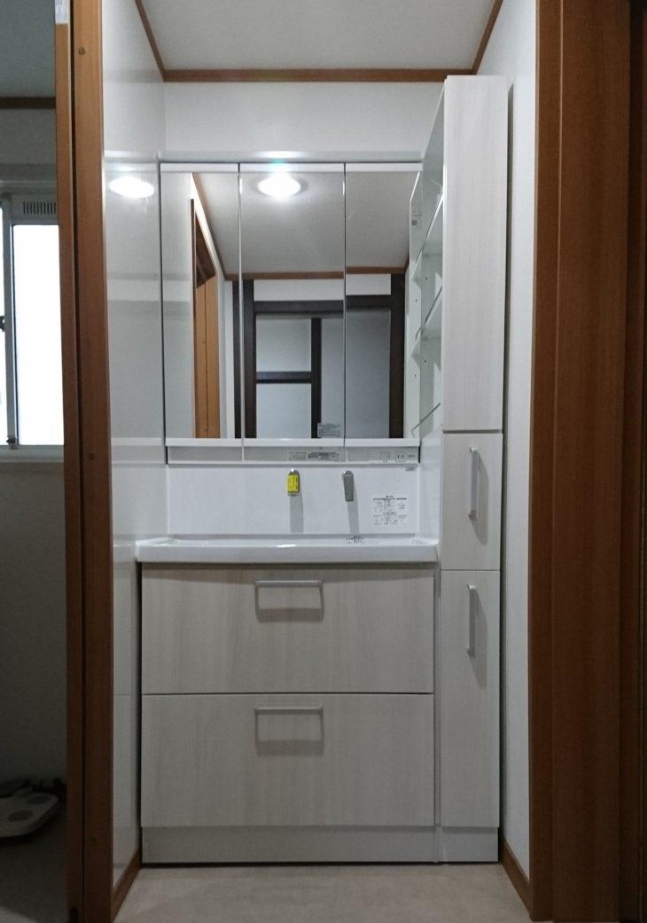 岡山市 C様邸 洗面台リフォーム施工事例