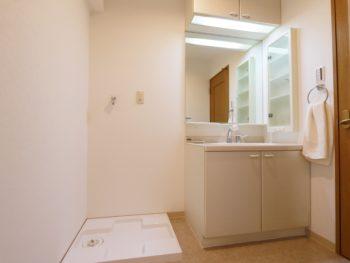 岡山市中区 I様邸 中古マンション 洗面台リフォーム施工事例